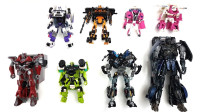 8辆变形金刚机器人变形玩具 擎天柱大黄蜂铁皮哨兵冰激凌车等
