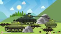 坦克世界搞笑系列:石头都挡不住攻击,用创口贴,M系坦克强攻,比KV44坦克厉害!