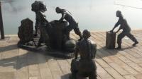 参观湖南铜官窑古镇 观海盗船表演 林翔摄制