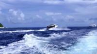 【原创】乘快艇出海兜风追海豚 马尔代夫图鲁斯杜岛一游