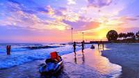 航拍广西北海银滩