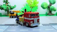 定格动画-乐高城市故事之擎天柱建造迷你乐高城市建筑积木