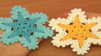 钩针装饰花系列,漂亮的六星装饰花教程,如此特别怎能不学?