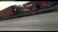 与死神的赛跑越南一卡车司机,在撞车瞬间破门而出