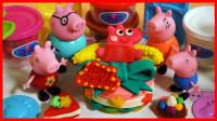小猪佩奇蛋糕烘焙乐玩具,培乐多彩泥橡皮泥黏土生日蛋糕甜点手工DIY
