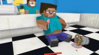 我的世界MC动画:怪物学校《在奶昔店工作》,史蒂夫爱上美味奶昔吃成胖墩!