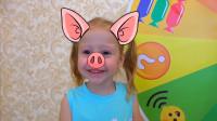 萌娃小可爱们可真会玩呢!两个小家伙真是萌萌哒!—萌娃:宝宝怎么变成猪头啦?
