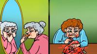 脑力测试:这两个老奶奶里,谁是僵尸呢?