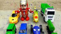 魔法棒变出变形汽车和复仇者联盟、飞机玩具,婴幼儿宝宝玩具过家家游戏视频F791