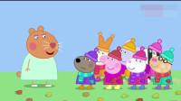 小猪佩奇:淘气的乌龟竟然爬到树上下不来,给大家急的叫消防车
