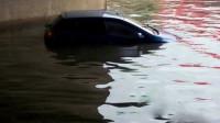 沈阳暴雨桥下积水严重   一男子驾车驶入不幸溺亡