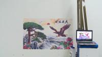 90后小伙发明墙体彩绘机,绘出的画生动逼真无缝隙,直接秒杀人工