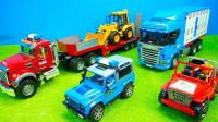 儿童玩具启蒙认知:卡车、运输车、铲车、挖掘机、拖拉机、叉车!
