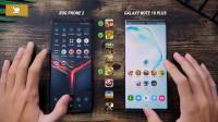三星Note 10+与华硕ROG Phone 2速度对比测试