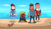 搞笑吃鸡动画:霸哥小队飞往出生岛奇幻之旅,结果上面什么都没有!好失望!
