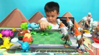 植物大战僵尸玩具亲子游戏射击比赛!