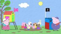 儿童益智拼图:佩奇小猪和朋友们一起在水坑里玩