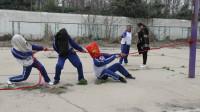 学生平时不好好学习,老师利用体育课套路学生受罚,太搞笑了