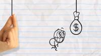 搞笑铅笔画小人:到底哪根线连着金币呢?