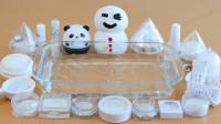 把所有白色盒子里的材料混入水晶泥中,无硼砂,会有惊喜吗