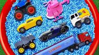 儿童启蒙玩具认知:救护车、超级飞侠、拖车、环卫车、赛车、油罐车!