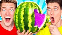 趣味实验:熊孩子自制紫色瓜瓤的西瓜,味道感觉怎么样?这有点重口味了吧!