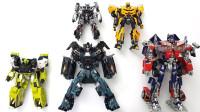 变形金刚电影系列擎天柱 大黄蜂 铁皮 爵士 救护车机器人变形玩具
