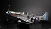 牛魔王模型P-51 D-5二战美军野马战斗机的制作