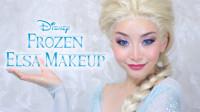 美女仿妆迪士尼动漫冰雪奇缘,将自己化妆打扮成了艾莎女王