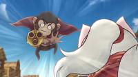 搞笑吃鸡动画:狂风来袭,刘贝想贴脸攻击娇小狸,结果被大风吹飞了