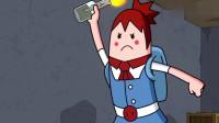 搞笑吃鸡动画:萌妹好倒霉,各种奇葩死法,感觉整个游戏都在针对她