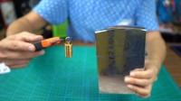 开箱测评全网最小打火机,竟比巨型打火机轻了一百倍,没对比就没伤害