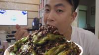 三斤辣椒,一斤牛肉,李涛娃今天整虎皮青椒,牛肉味,拌饭吃真爽