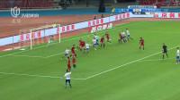 2019足协杯半决赛 山东鲁能费莱尼头球攻破上海上港大门暂时1-0领先