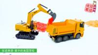 快来围观 挖掘机卡车在施工现场施工 家中的美国学校