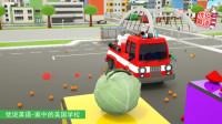 消防车的新技能 用水炮打靶 家中的美国学校
