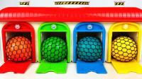 儿童启蒙玩具认知:学习颜色,认识小火车、工程车、赛车、油罐车玩具!