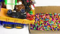 儿童玩具趣味认知:拖车、救护车、消防车、超级飞侠、压路机、赛车、环卫车!