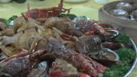 """到阳江海边吃""""开渔宴"""",陌生人可以坐在一桌吃,这谁吃得过钱贝"""