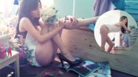 33岁杨幂烟熏妆惊艳全场,光腿配上流体长靴,不露肉的地方最性感