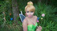 国外女子仿妆动漫童话:将自己美妆打扮成奇妙仙子小叮当