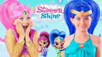 小小年纪挑战动漫亮亮和晶晶妆容,你觉得哪个更漂亮一些?