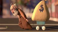 老爷爷辛苦工作一辈子,攒了一麻袋的钱,只是为了去坐一次摇摇车