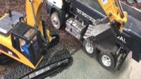 布鲁德卡车儿童砾石运输挖掘机
