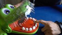 将鳄鱼的玩具牙齿换成钉子?老外玩的太狠了,隔屏幕都觉得紧张