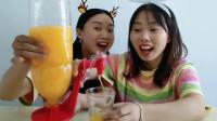 """闺蜜分享""""迷你饮水机"""",倒置饮料按一按,省心省力逗人开心"""
