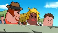 搞笑吃鸡动画:霸哥小队集体掉线,重连之后随便放两枪,竟能零杀吃鸡!