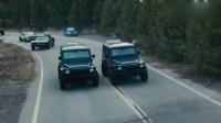 速度与激情:范老大保罗公路劫车,上演劲爆汽车追逐战,太精彩!
