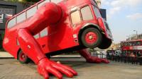 全球唯一会做俯卧撑的公交车,你见过吗?简直太神奇了