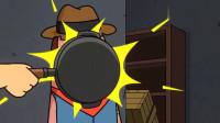 搞笑吃鸡动画:堂堂战神霸哥竟被人用平底锅给砸死了!实在是太惨了